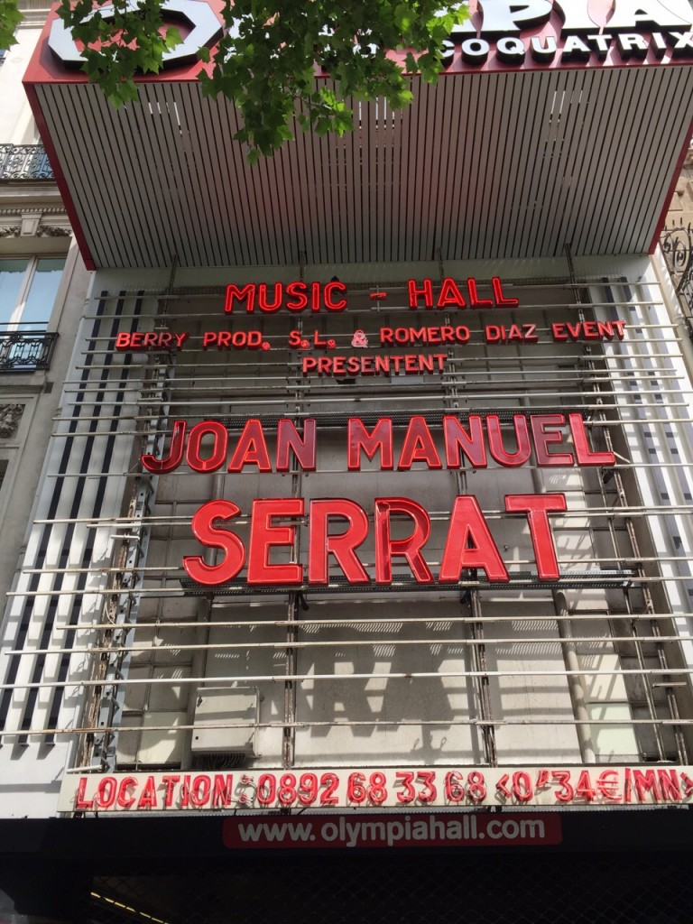 Joan Manuel Serrat actuará hoy en el mítico Olympia Hall de Paris