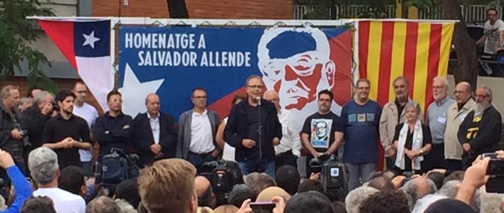 Joan Manuel Serrat en el homenaje a Salvador Allende